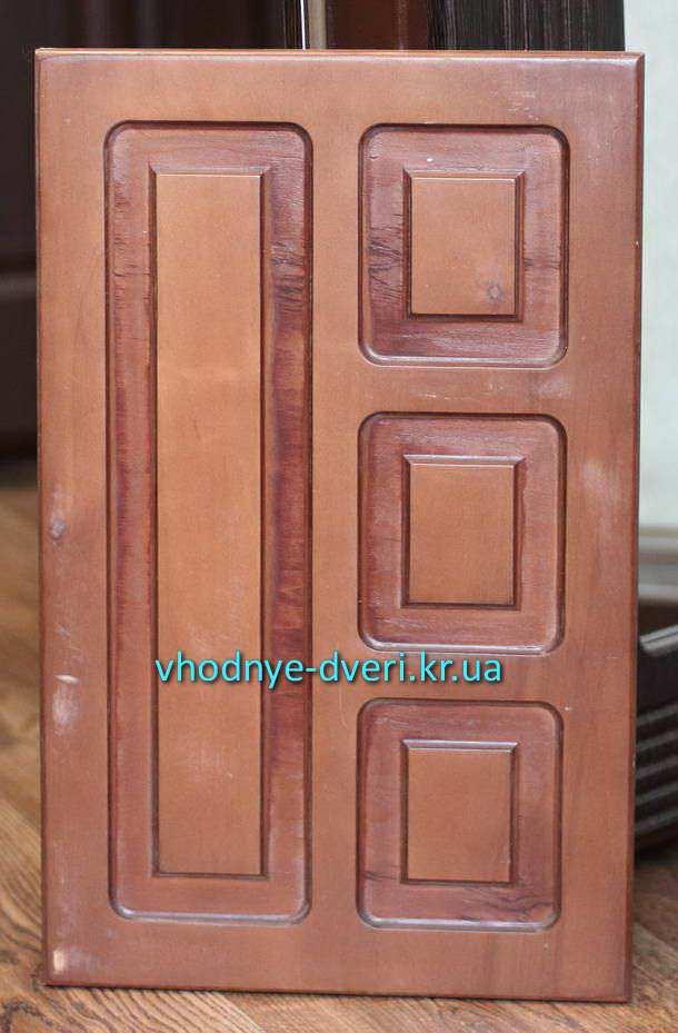 Фанерные накладки на двери ДверьПром с филёнками расположенными вертикально