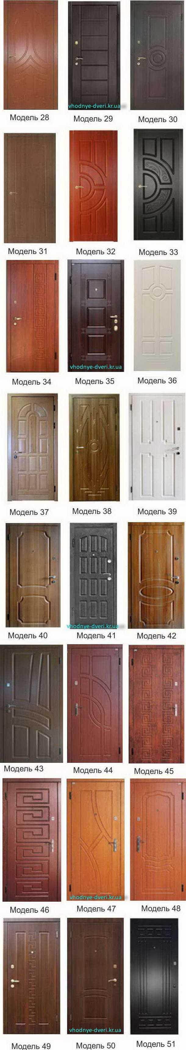 Фото накладок на входные дверь ДверьПром Украина