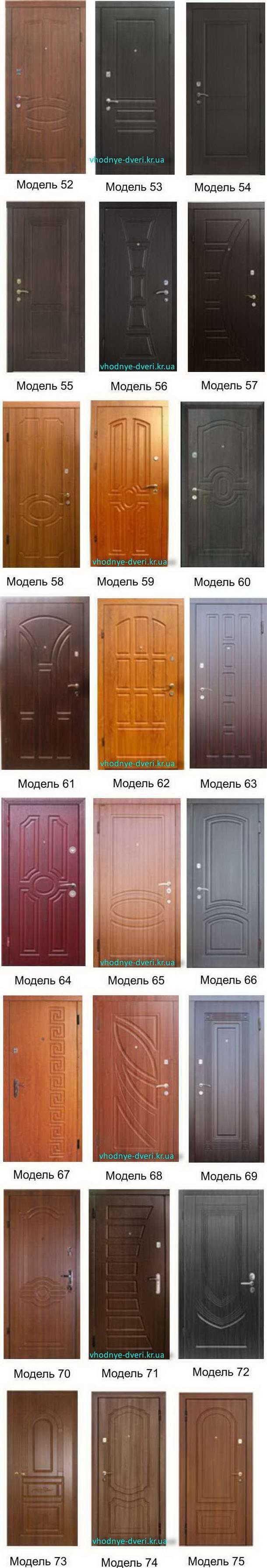 Фото накладок МДФ на входные двери ДверьПром модели 52-75