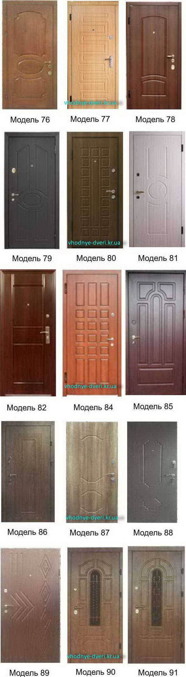 Фото декоративных накладок на входные двери ДверьПром Украина модели 76-91